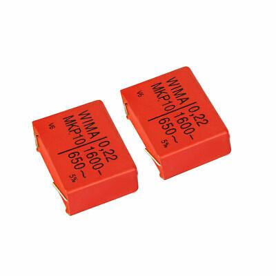 FK.12   2x WIMA MKP10 Polypropylen Kondensator 1,0µF-1600-650~ 1000nF Rm 37,5mm