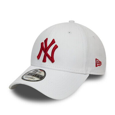 NEW ERA NEW YORK YANKEES BASEBALL CAP.9FORTY WHITE RED COTTON ESSENTIAL HAT S20