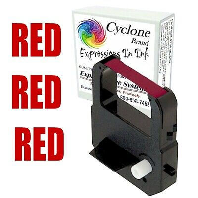 Fits Lathem 100e 700e 1000e 1500e 1600e 7000e Ribbon Cartridge Red
