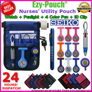 Quality Nurse Pouch/ Bag+Watch+Medical Pen Light+Gift