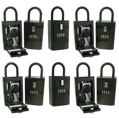 10 Lockboxes Key Card Storage Lockbox 4 Digit Realtor Lock Box With Hinged Door