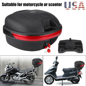 30L Motorcycle Tail Box Luggage Trunk Top Case Touring Scooter Cruiser Dirt Bike