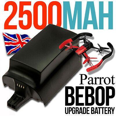 2 X BIG Upgrade Battery 2500mAh for Parrot BEBOP Drone Quadcopter