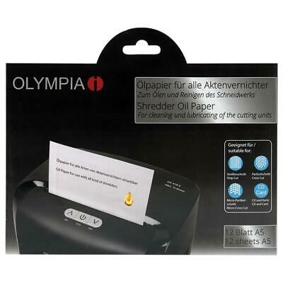 Olympia Ölpapier 12 Blatt für Aktenvernichter Öl Reinigung Schmiermittel 9130