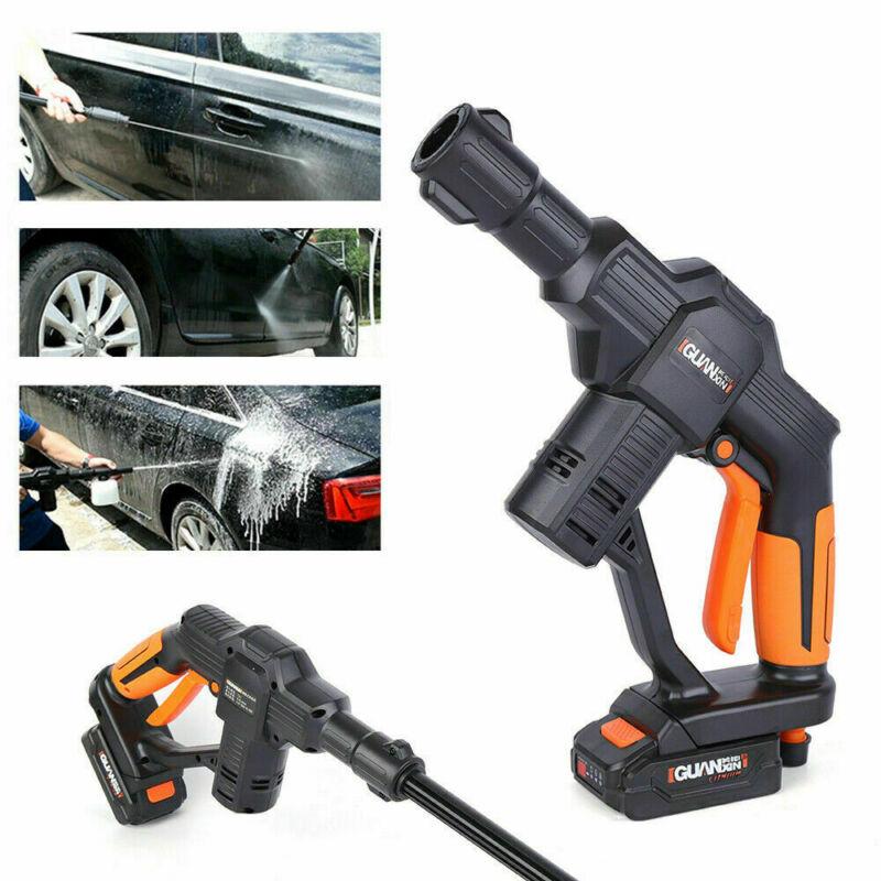 12V Car High Pressure 130PSI Water Sprayer Gun Washer Garden Hose+Battery+Charge