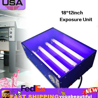 Screen Printing Exposure Unit 4632cm Silk Screen Plate Drying Curing Machine