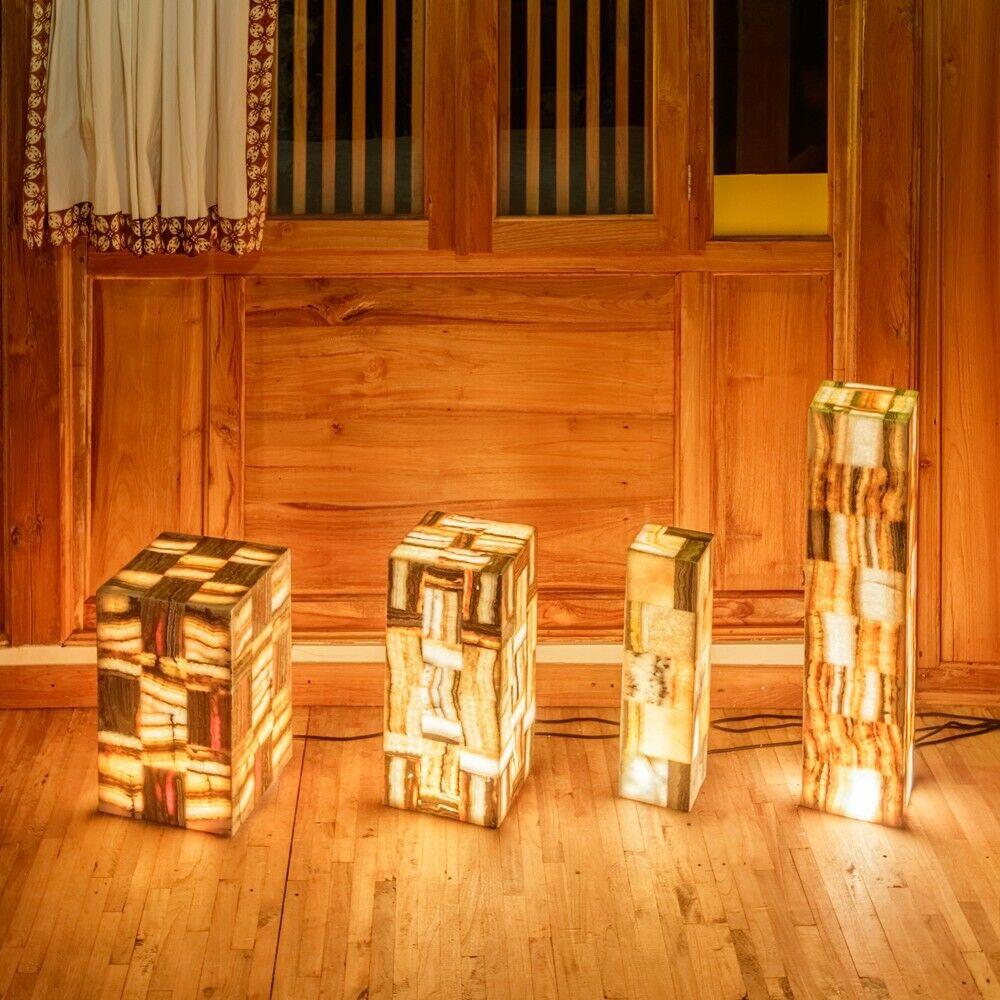 Stehlampe Naturstein Onyx-Marmor 25x50cm Standleuchte Bodenlampe von wohnfreuden
