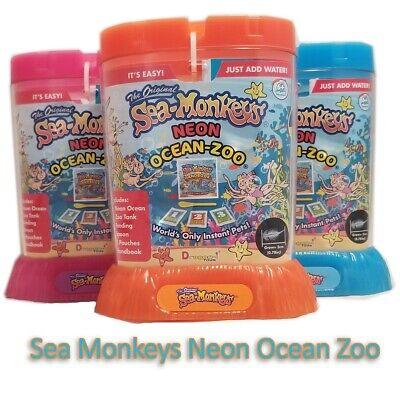 Sea Monkeys Neon Ocean Zoo Aquarium Amazing Live Habitat Science Toys Kid Toys