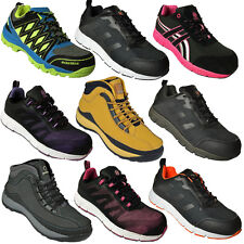 ** MENS SAFETY BOOTS TRAINERS SHOES WORK STEEL TOE CAP HIKER ANKLE LADIES 3-13UK