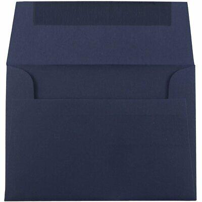 JAM PAPER A7 Premium Invitation Envelopes - 5 1/4 x 7 1/4 - Navy Blue - 25/Pack