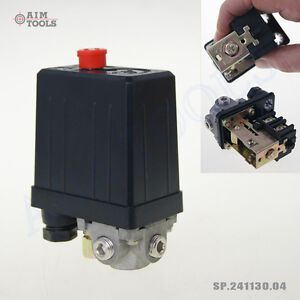 3-PORTS-AIR-COMPRESSOR-PRESSURE-CONTROL-SWITCH-SINGLE-PHASE-1-4-BSP-UK-SELLER