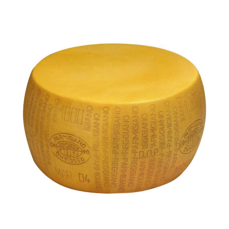 "Plastic Parmesan Reggiano Imitation Cheese Wheel Yellow - 17""Dia x 8""H"