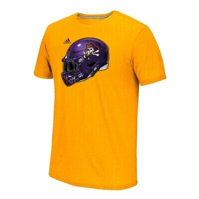 East Carolina Pirates NCAA Adidas Gold 2017 Team Helmet Graphic T-Shirt ()