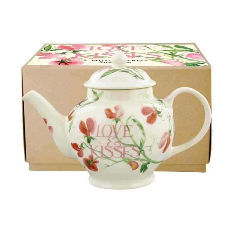 Emma Bridgewater Sweet Pea Love & Kisses 2 Mug Teapot