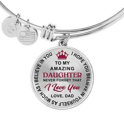 Mom Daughter Gifts - To My Daughter Never Forget That I Love You Unique Bracelet ()