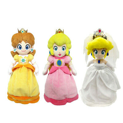 Super Mario Bros Odyssey Daisy and Princess Peach Wedding Plush Doll Stuffed Toy](Princess Peach Mario Bros)