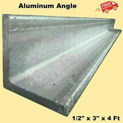 Aluminum Angle 12 X 3 X 4 Ft Length Unpolished Alloy 6061 90 Stock