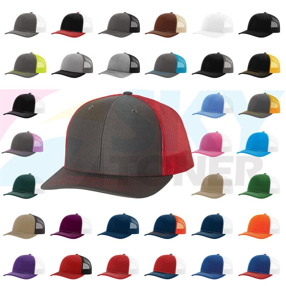 Custom Trucker Hat Richardson Baseball Boy B Embroidery Team Name Cotton Snaps