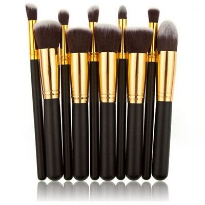 10Pcs Best Makeup Brushes Set Powder Blusher Foundation Kabuki