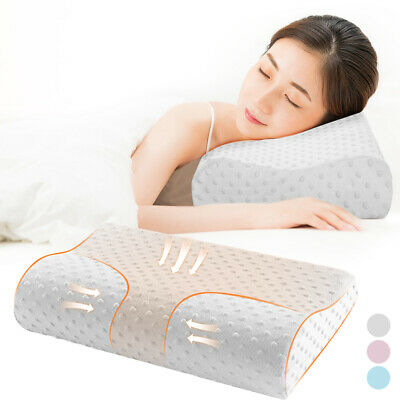 Memory Foam Pillow Bamboo Pillow Cervical Pillow for Neck Pain Support for Back ()