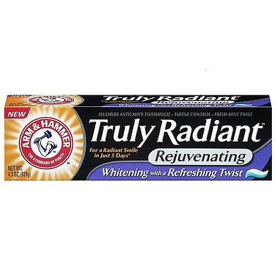 ARM - HAMMER Truly Radiant Rejuvenating Toothpaste, Fresh Mint Twist 4.30 oz