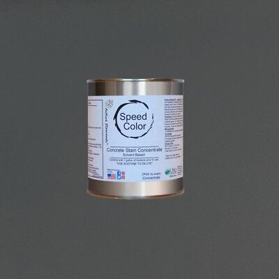Fast Drying Concrete Paint Speed Color 24oz Concentrate Yields 1gal Storm Grey