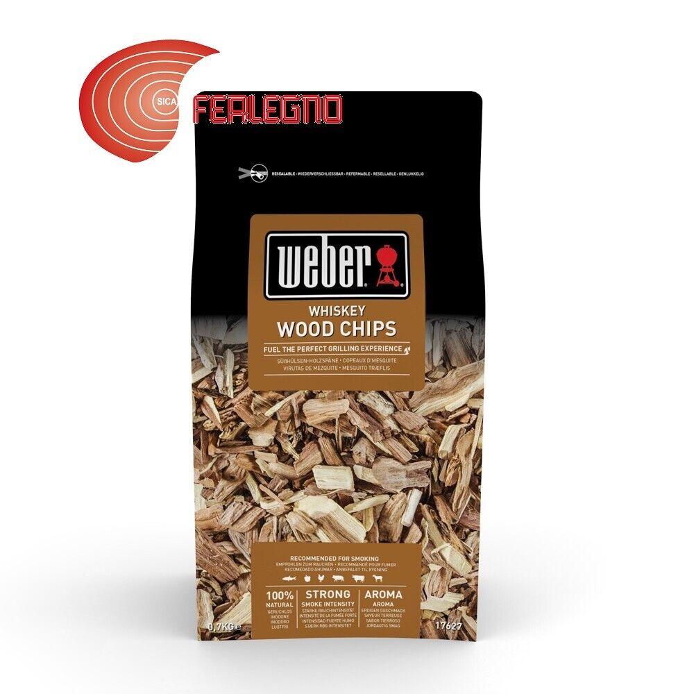 0,7kg Holz Chips aus Rauchen für BBQ Grill Aroma Whiskey Art.8856 Weber