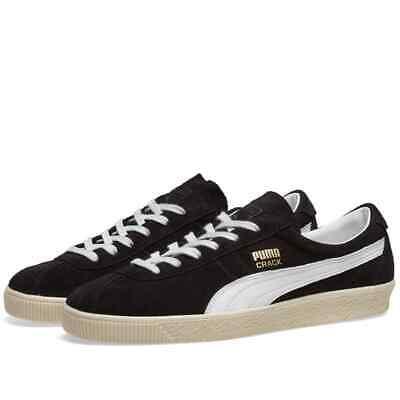 Puma Crack Heritage Black Suede Retro Fashion Trainers UK Sizes 3.5 - 11