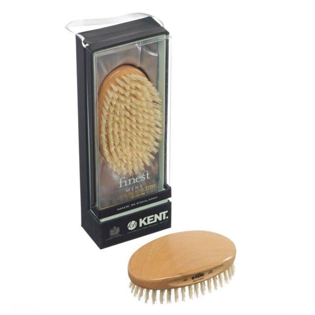 Kent MG3 Oval Military Grooming Brush Pure Bristle Beech Wood for Hair & Beard