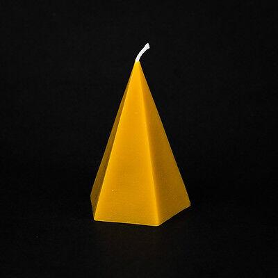 Pure Beeswax   - Pyramid Candle, long burning, natural,