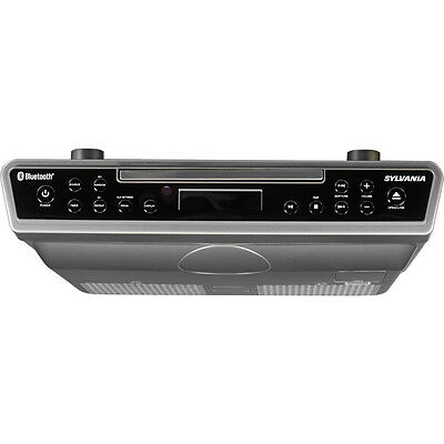 Sylvania Bluetooth Under-Cabinet CD Player Clock Radio with Aux in | SKCR2713