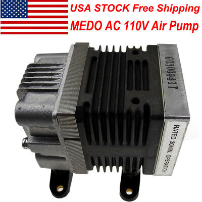 Us Stock Ac 110v Medo Linear Piston Driven Air Compressor Pump Oil-free Air Pump