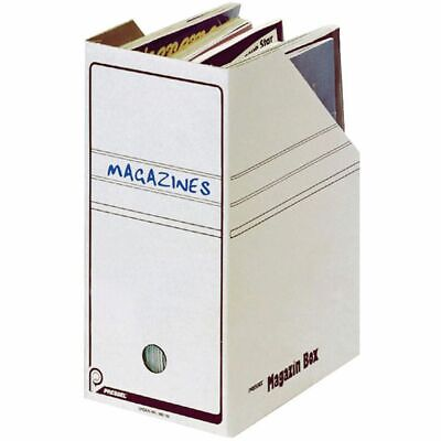20x Pressel Cardboard Magazine Brochure Book Archive Box White 260 x 150 x 325mm