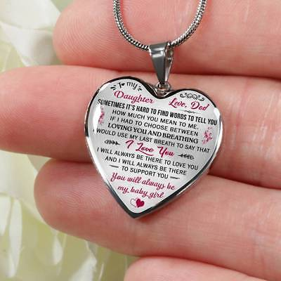 Proud Dad to Daughter Gift Idea from Daddy Papa - Unique Novelty Luxury Necklace