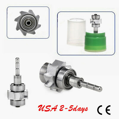Steel Bearing Dental Cartridge Turbine Fit For Standard High Speed Led Handpiece