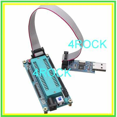 Atmel Atmega32 Bootloader Usb Isp Avr 40pin Zif Socket Programmer Burning Burn