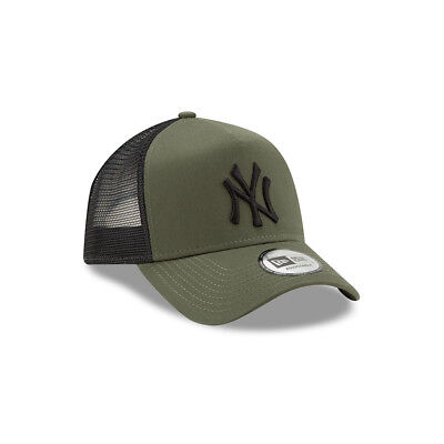 NEW ERA NEW YORK YANKEES BASEBALL CAP.9FORTY MLB LEAGUE ESSENTIAL TRUCKER HAT 9S