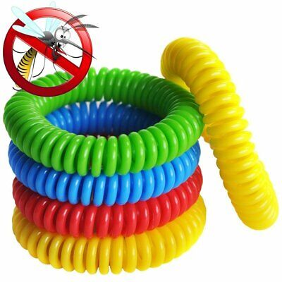10 Heap Natural Mosquito Repellent Bracelet Bug Insect Protection Deet-Free USA
