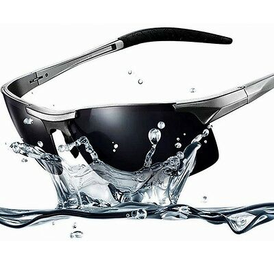Sonnenbrille UV400 Polarized Sport  Outdoor metal Rahmen Herr Sportbrille Silber