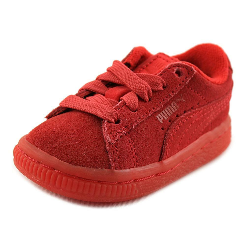 Puma Kids' Infant/Toddlers SUEDE ICED INFANT Shoes High Risk Red 361939-01 a
