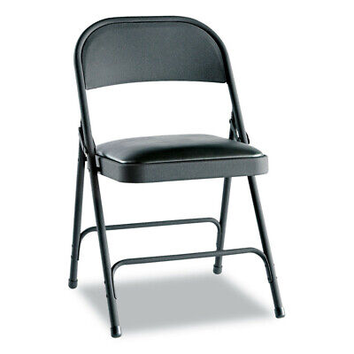 Alera Fc94vy10b Steel Folding Chair With Two-brace Support Padded-seat New