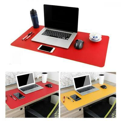 Large Leather Desk Mouse Pad Pad Protecter 31.5 X 15.7 Pu Redyellow