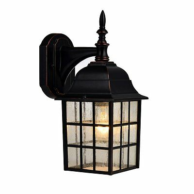 Hardware House Oil Rubbed Bronze Aluminum Outdoor Light Fixture, #18-8357