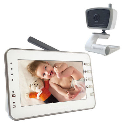 """MoonyBaby 4.3"""" Large LCD Video Baby Monitor w/ one MANUALLY Rotated Camera"""