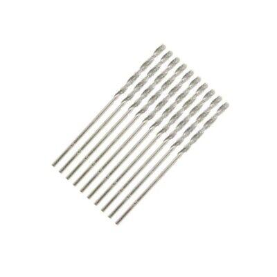 Set of 10 Diamond Coated Precision Drill Bit DIY Power Tools - 1/16 inch (16 Inch Diamond Drill Bit)