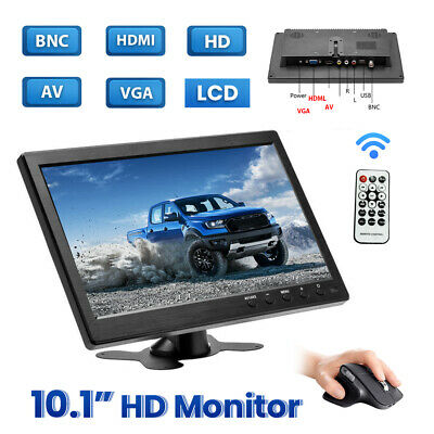"""10.1"""" Car LCD HD Monitor TV PC Screen with BNC/HDMI/VGA/AV Cable for Truck BUS"""