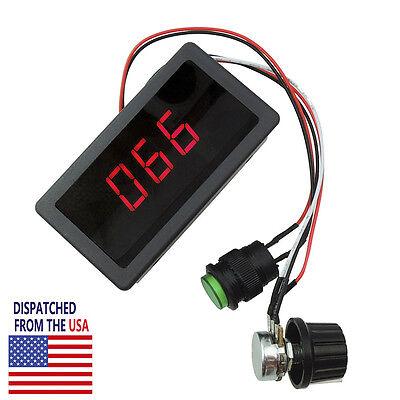 Dc 6v-30v 12v 24v Max 8a Motor Pwm Speed Controller With Digital Display Switch