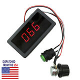 DC 6V-30V 12V 24V Max 8A Motor PWM Speed Controller With Digital Display Switch
