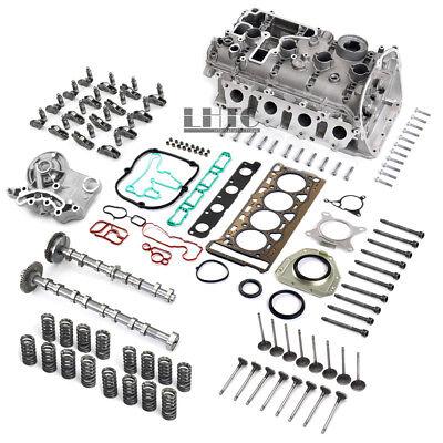 Engine Cylinder Head Camshaft Valves Assembly Kit For VW GTI AUDI A3 1.8 2.0TFSI