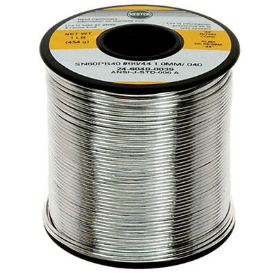 Kester 24-6040-0039 1-pound 44 Activated Rosin Cored Wire Solder Roll Sn60 Pb40